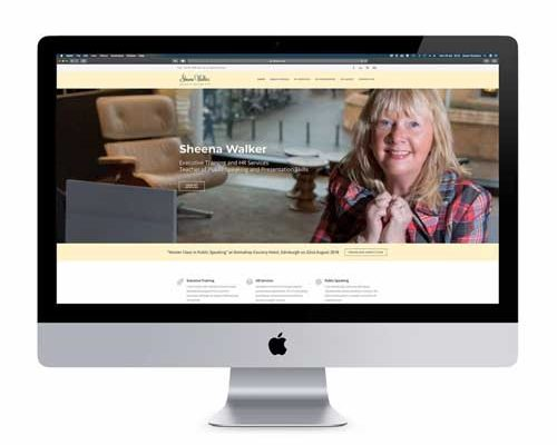 Sheena Walker Website Design